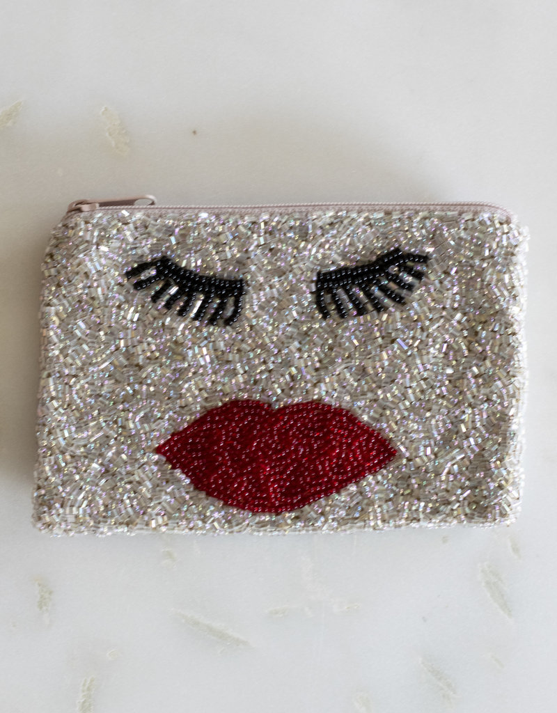 Beaded Coin Purse - Lashes