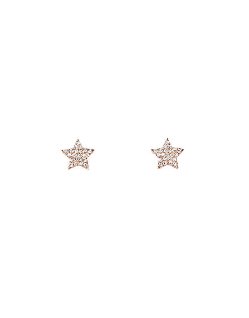EF Collection Single Mini Diamond Star Stud