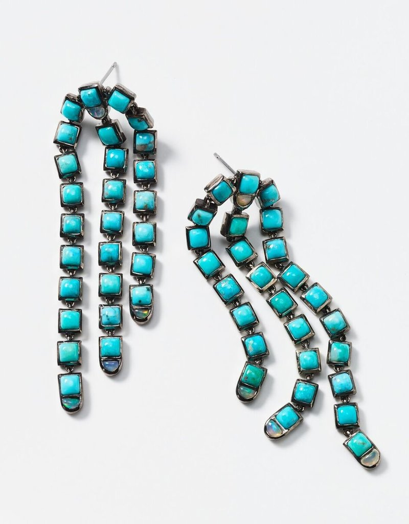 Nak Armstrong Sweep Turquoise and Opal Earring