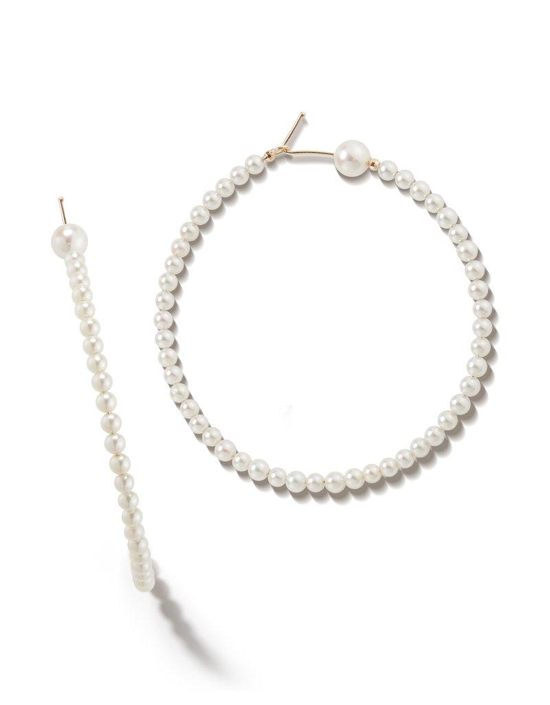 Mizuki Pearl Lined Hoops