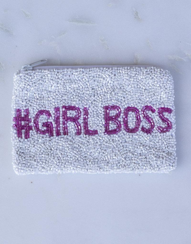 Beaded Coin Purse - #Girl Boss