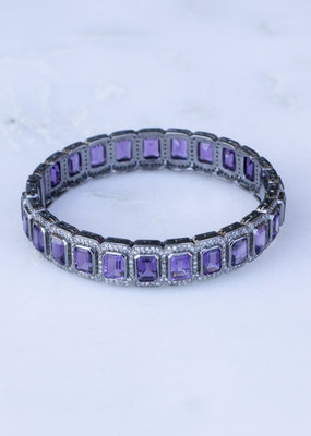 The Woods Fine Jewelry Amethyst and Diamond Bangle