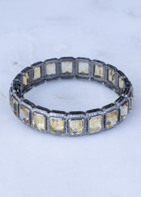 The Woods Fine Jewelry Citrine and Diamond Bangle