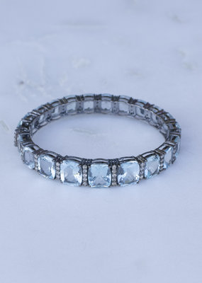 The Woods Fine Jewelry Aquamarine and Diamond Bangle