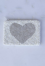 Beaded Coin Purse - Heart