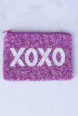 Beaded Coin Purse - XOXO