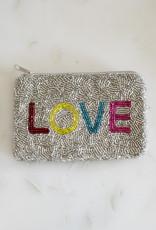 Beaded Coin Purse - Rainbow Love