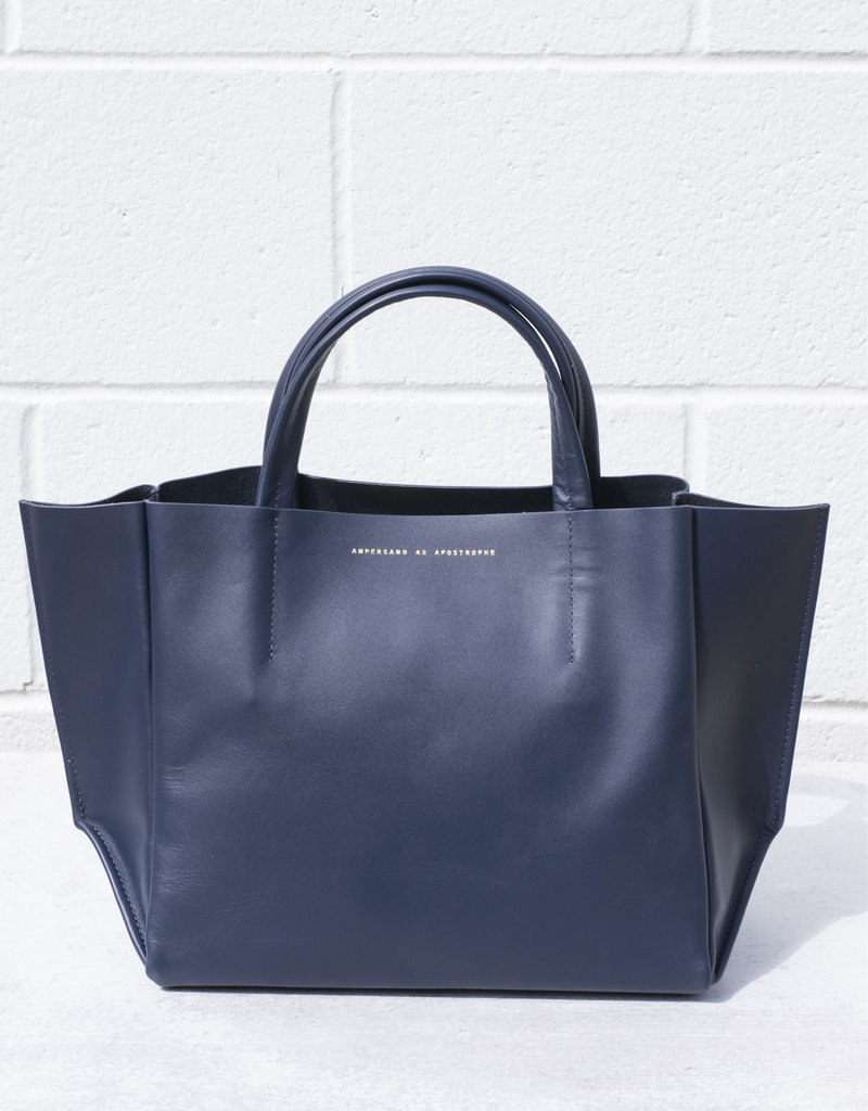 Ampersand As Apostrophe Half Tote - Smooth Navy
