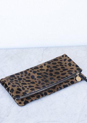 clare vivier Foldover Clutch - Leopard Hair