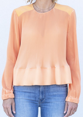 Tibi Pleated Top