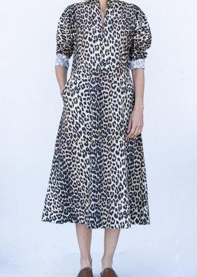Ganni Printed Poplin Midi Dress