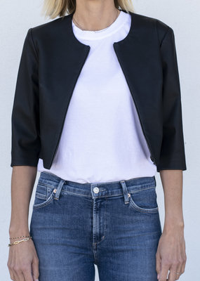 Susan Bender Leather Cardi