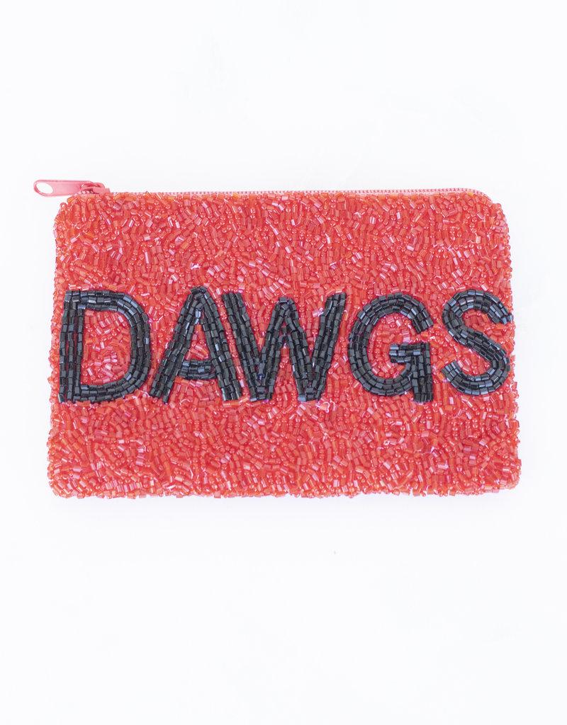 Beaded Coin Purse - Dawgs