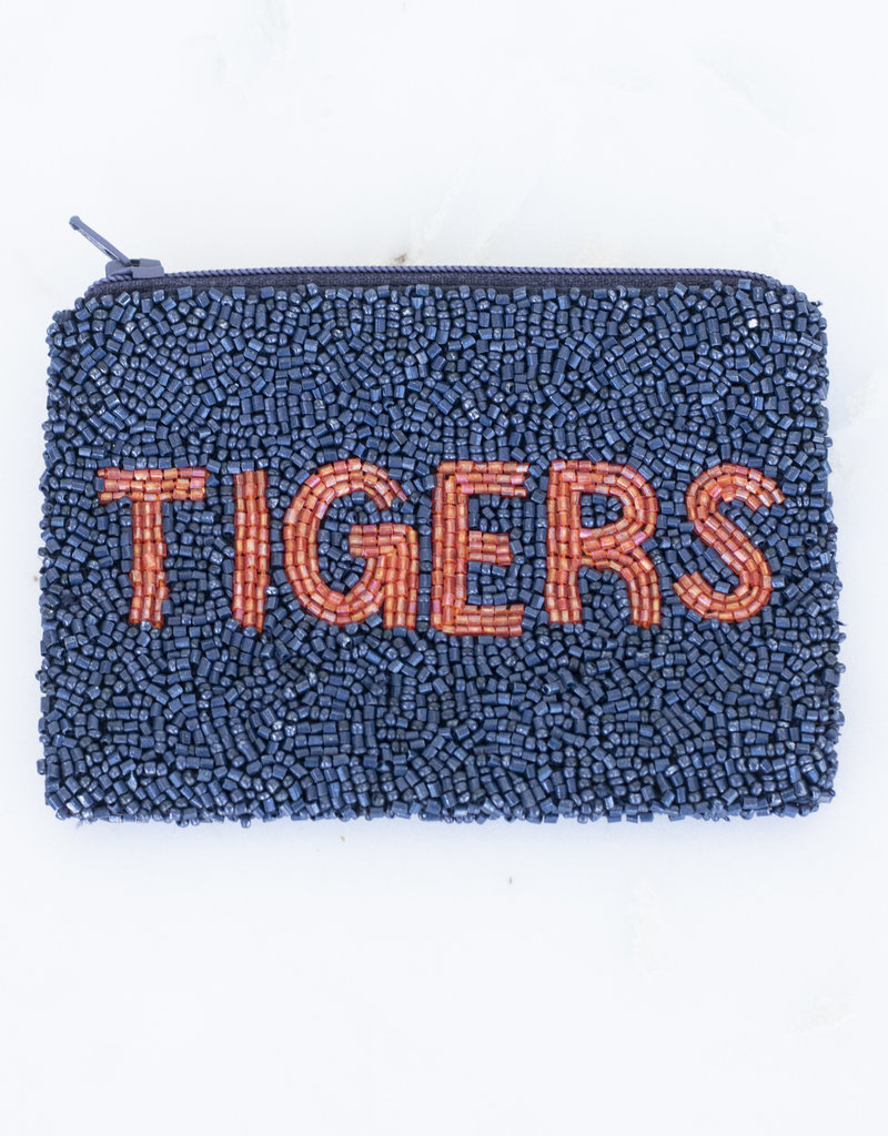 Beaded Coin Purse - Tigers