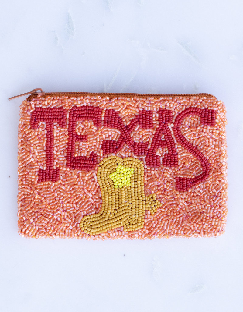 Beaded Coin Purse - Texas
