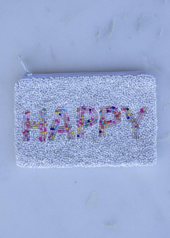 Beaded Coin Purse - Happy Confetti