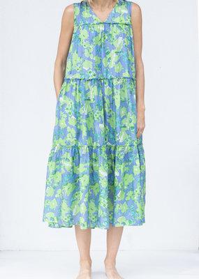 Ne Quittez Pas Silk Frilled Dress