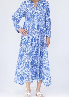 Natalie Martin Fiore Maxi Dress Corfu Blue