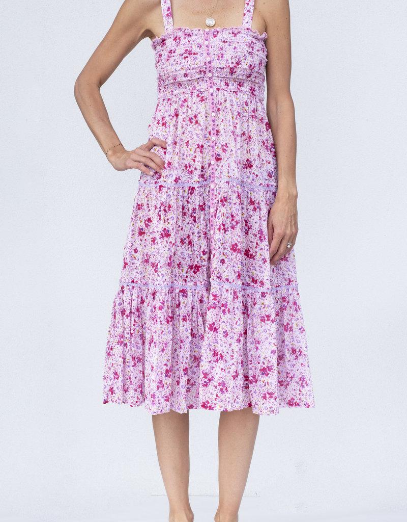 Poupette St. Barth Triny Smocked Dress