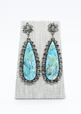 The Woods Fine Jewelry Turquoise and Diamond Earrings