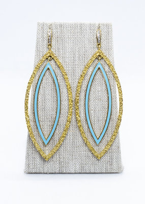 The Woods Fine Jewelry Turquoise Enamel and Brass Earrings