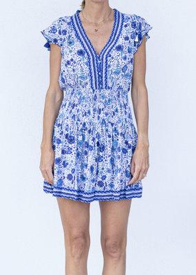 Poupette St. Barth Rachel Mini Dress Blue Naif