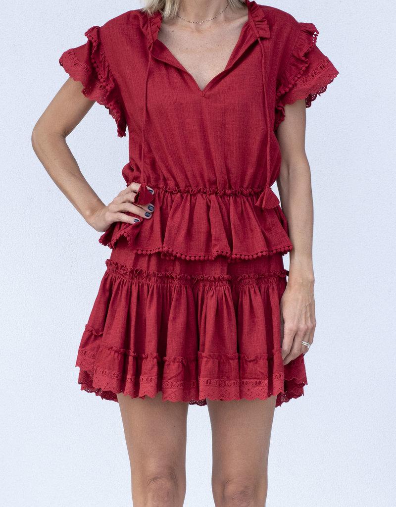 Misa Lilian Dress Rust