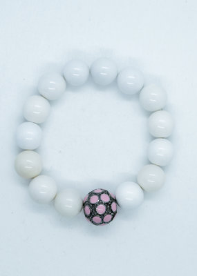The Woods Fine Jewelry White Beads with Enamel