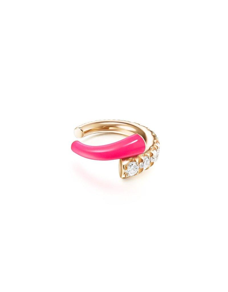 Melissa Kaye Lola Ear Cuff- Neon Pink
