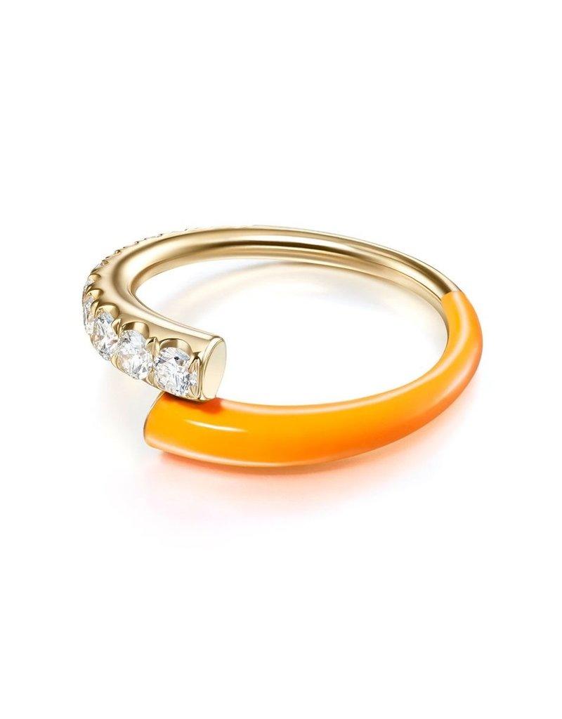 Melissa Kaye Lola Ring- Neon Orange