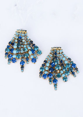 Elizabeth Cole Bette Earring Blue EC218