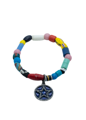 The Woods Fine Jewelry African Beads with star charm