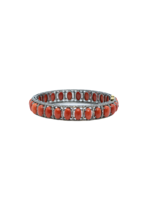 The Woods Fine Jewelry Coral and Diamond Bangle