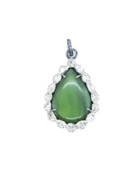 The Woods Fine Jewelry Jade with Diamonds Pendant