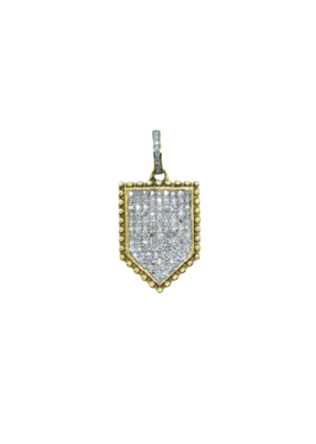 The Woods Fine Jewelry Pave Shield Pendant