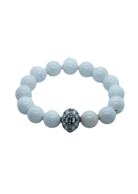 The Woods Fine Jewelry White with enamel bead