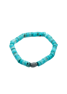 The Woods Fine Jewelry Turquoise with Pave Bead