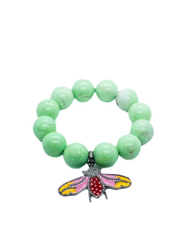 The Woods Fine Jewelry Turquoise with Enamel Charm