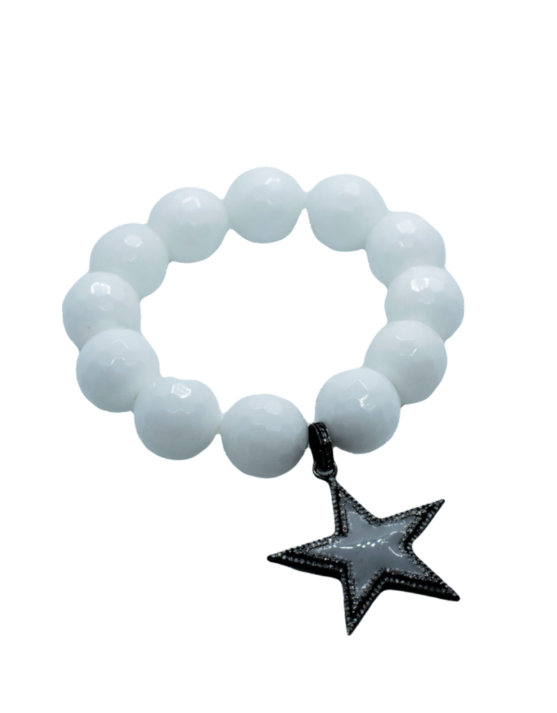 The Woods Fine Jewelry White Coral with Enamel Star