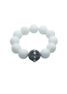 The Woods Fine Jewelry White Coral with Pearl Bead