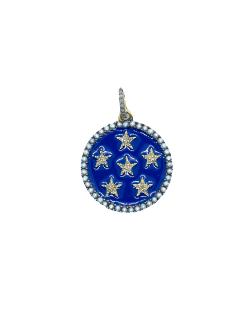 The Woods Fine Jewelry Enamel Star Pendant