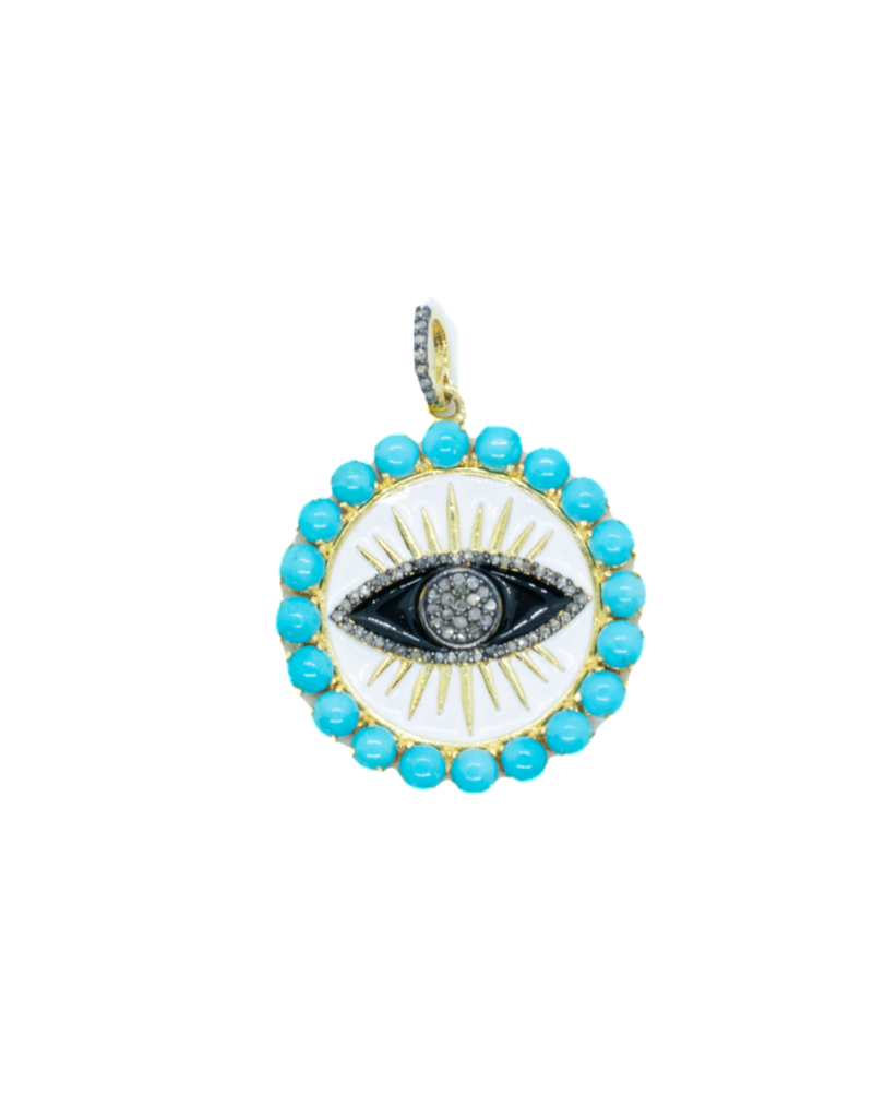 The Woods Fine Jewelry Evil Eye Pendant with turquoise