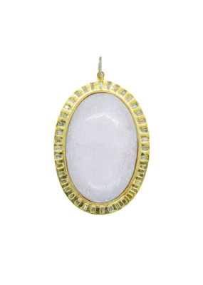 The Woods Fine Jewelry Pink oval with diamonds
