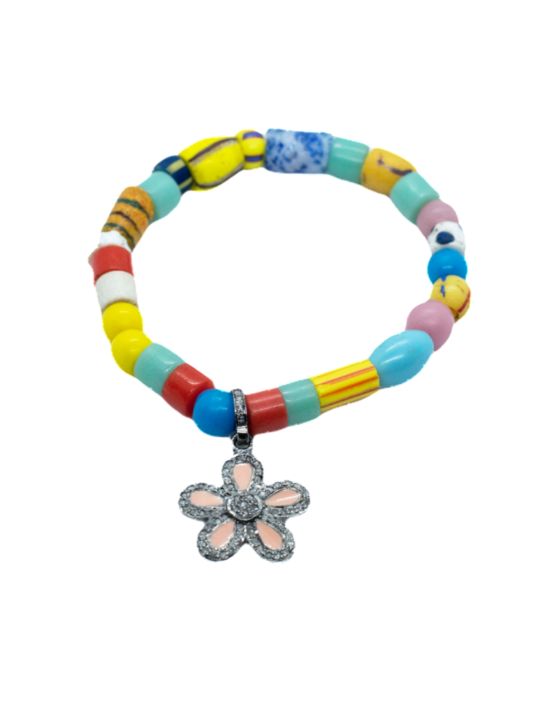 The Woods Fine Jewelry African beads with charm