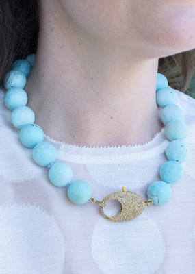 The Woods Fine Jewelry Turquoise with Brass Clasp