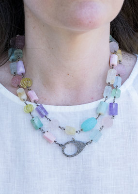The Woods Fine Jewelry Long Mixed Gemstone Necklace