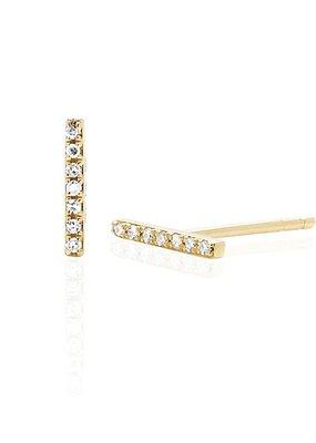 EF Collection Mini Diamond Bar Studs
