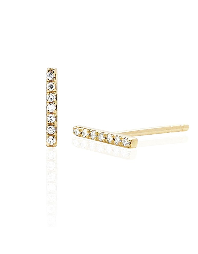 EF Collection Mini Diamond Bar Studs