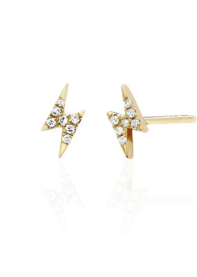 EF Collection Mini Lightning Bolt Studs