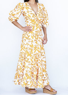 Lanhtropy Mararita Dress Ginger Print